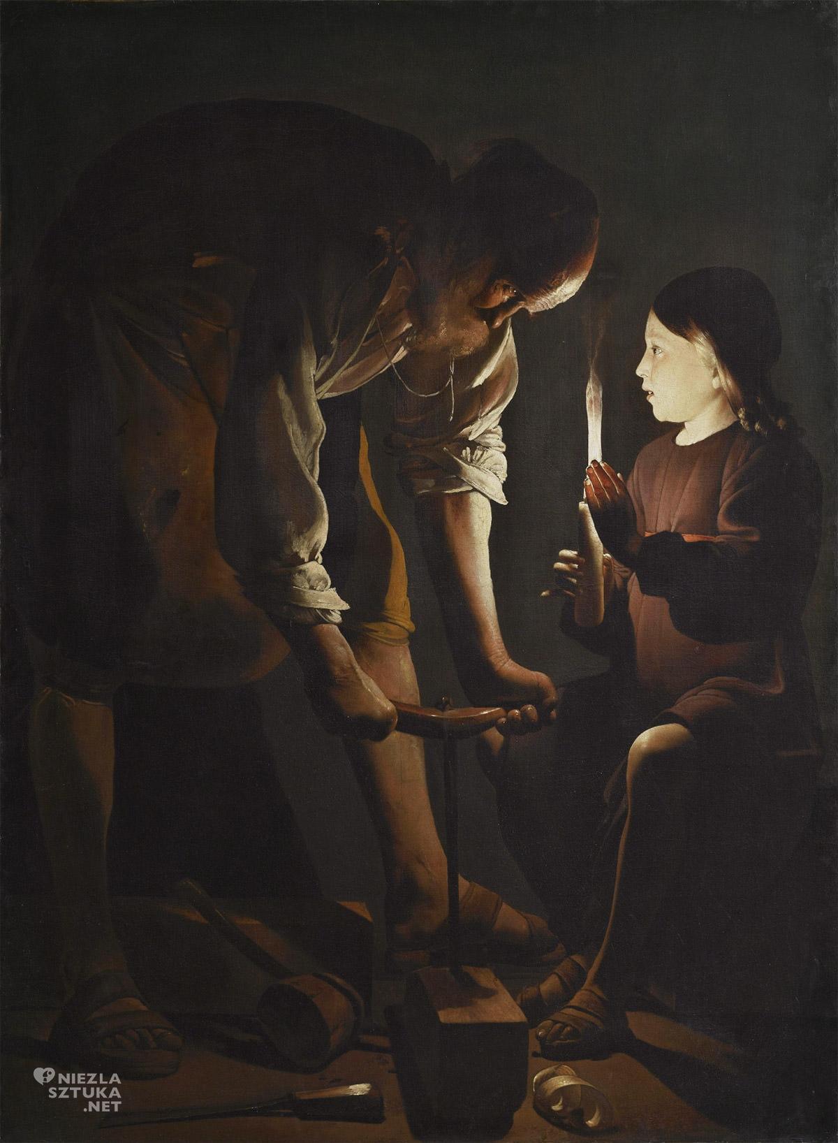 Georges de La Tour, Święty Józef Cieśla, malarstwo francuskie, malarstwo religijne, barok, Niezła Sztuka