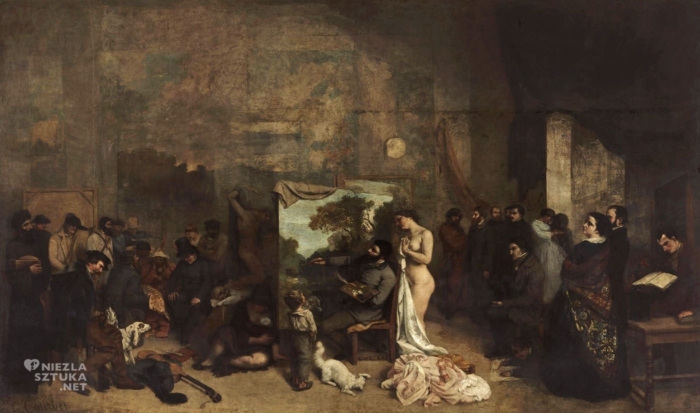 Gustave Courbet, Pracownia artysty, Musée d'Orsay, Paryż, Niezła sztuka