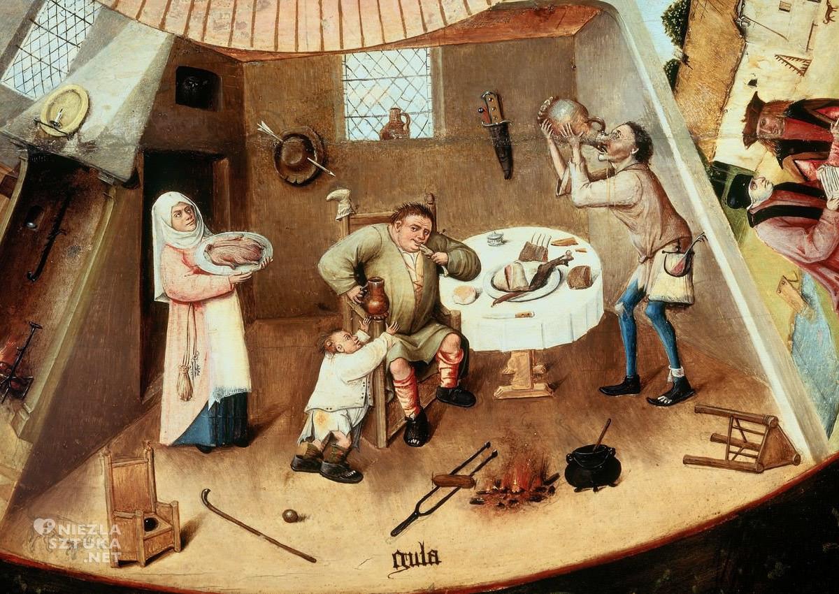 Hieronim Bosch, Obżarstwo, Siedem Grzechów Głównych, sztuka niderlandzka, Niezła Sztuka