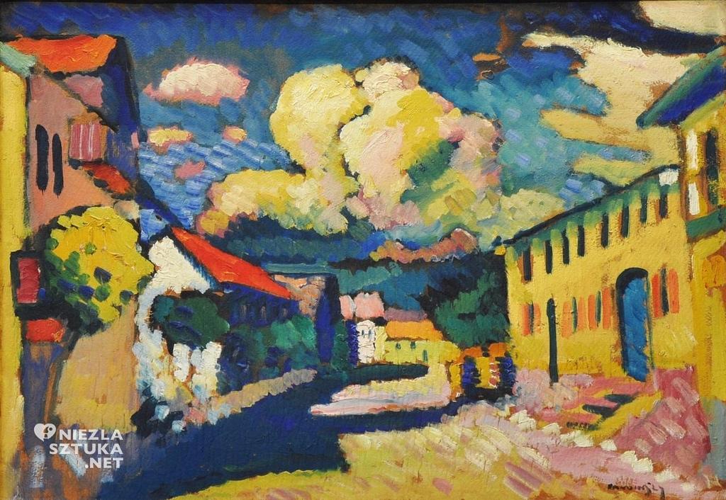 Wassily Kandinsky, Wiejska ulica w Murnau, sztuka rosyjska, XX wiek, Niezła Sztuka