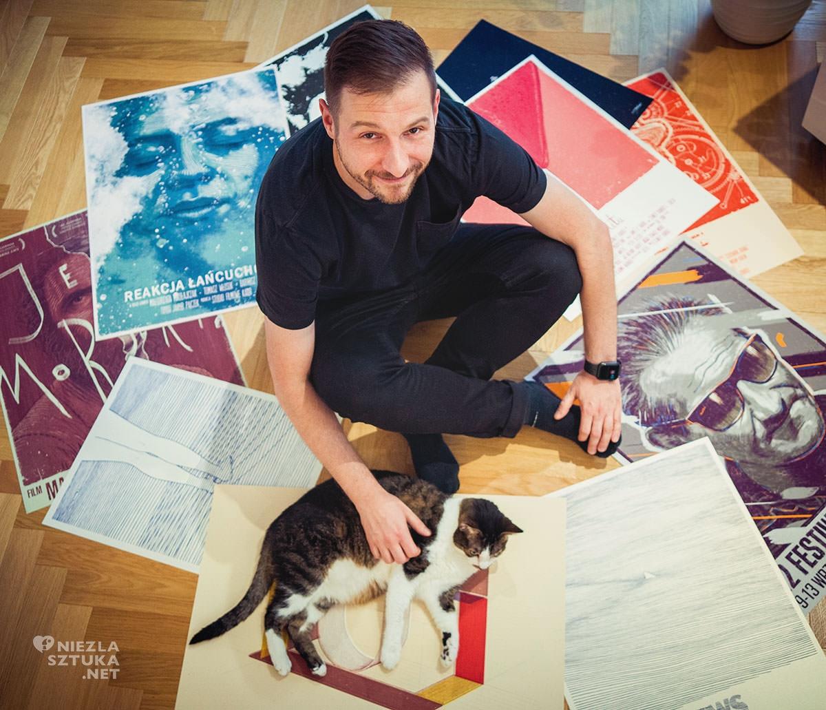 bartosz kosowski ilustrator, grafik, plakat polski, Niezła sztuka