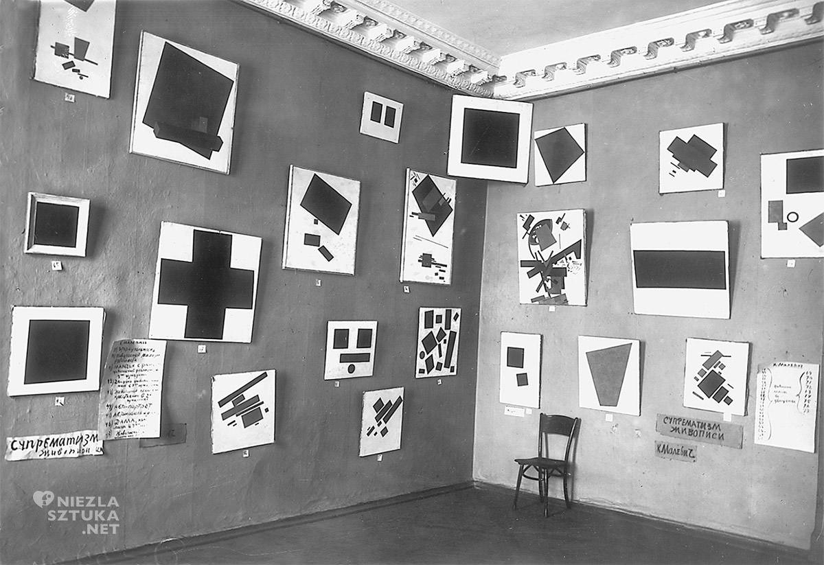 Ostatnia wystawa futurystów 0,10, kazimierz malewicz, czarny kwadrat, Niezła sztuka