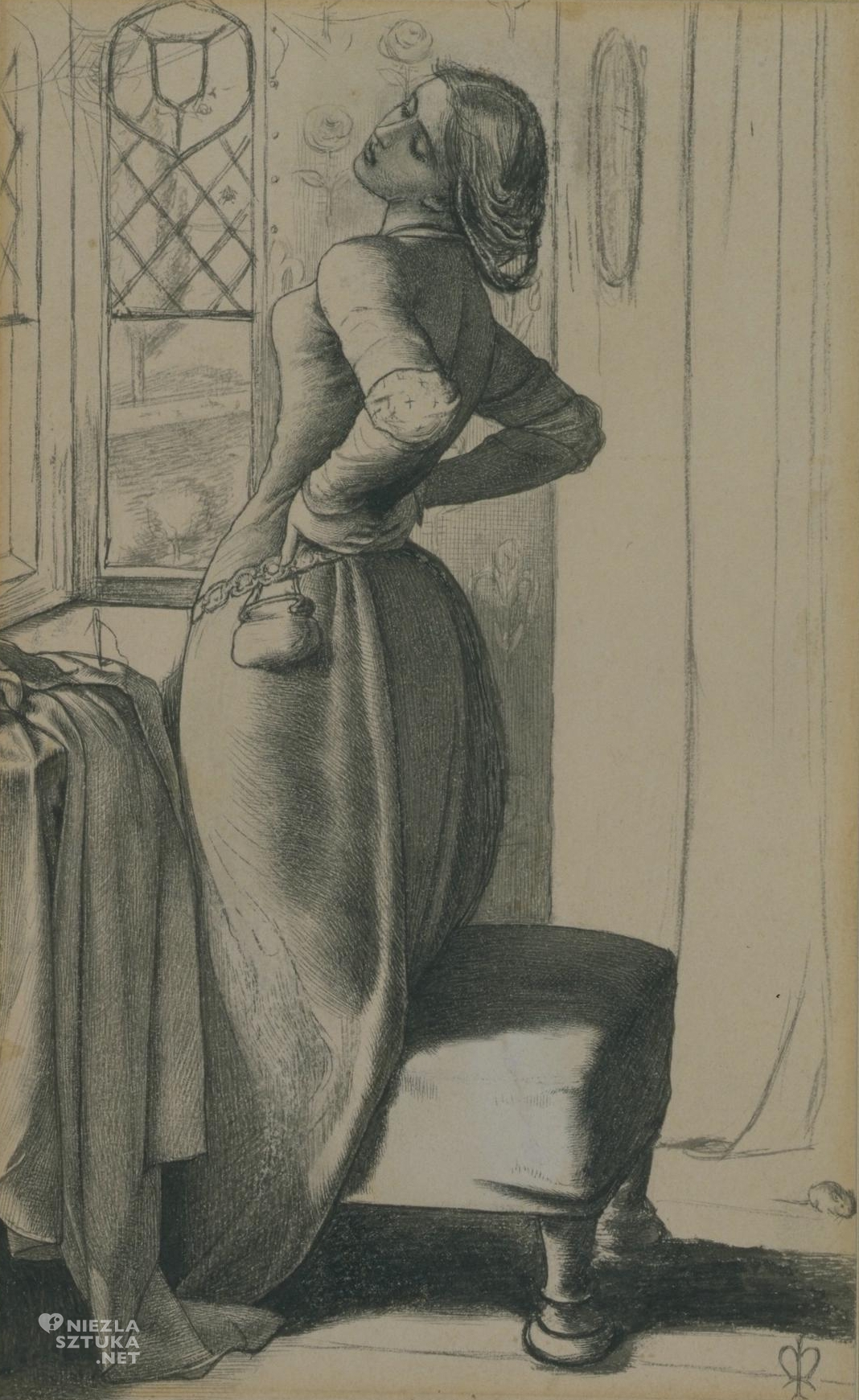 John Everett Millais, szkic, Mariana, prerafaelici, Niezła Sztuka