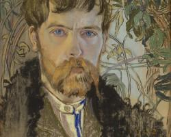 Stanisław Wyspiański, Autoportret, pastel, Młoda Polska, Niezła sztuka