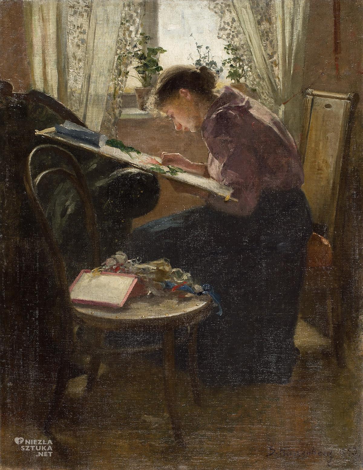 Samuel Hirszenberg, Hafciarka, żydowscy twórcy, sztuka polska, krzesło numer 14, Niezła Sztuka
