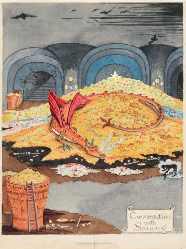Tolkien, Hobbit, Śródziemie, literatura, ilustracja, Niezła Sztuka