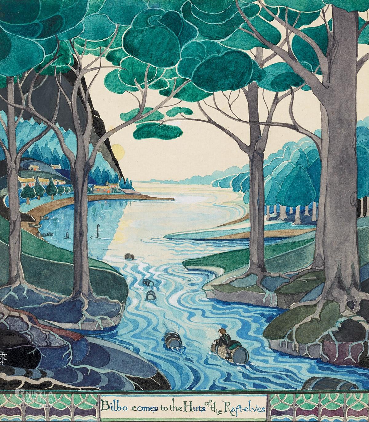 Tolkien, Hobbit, ilustracja, książka, Niezła Sztuka