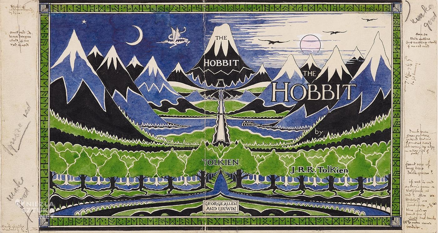 Tolkien, Hobbit, obwoluta, książka, literatura, Niezła Sztuka