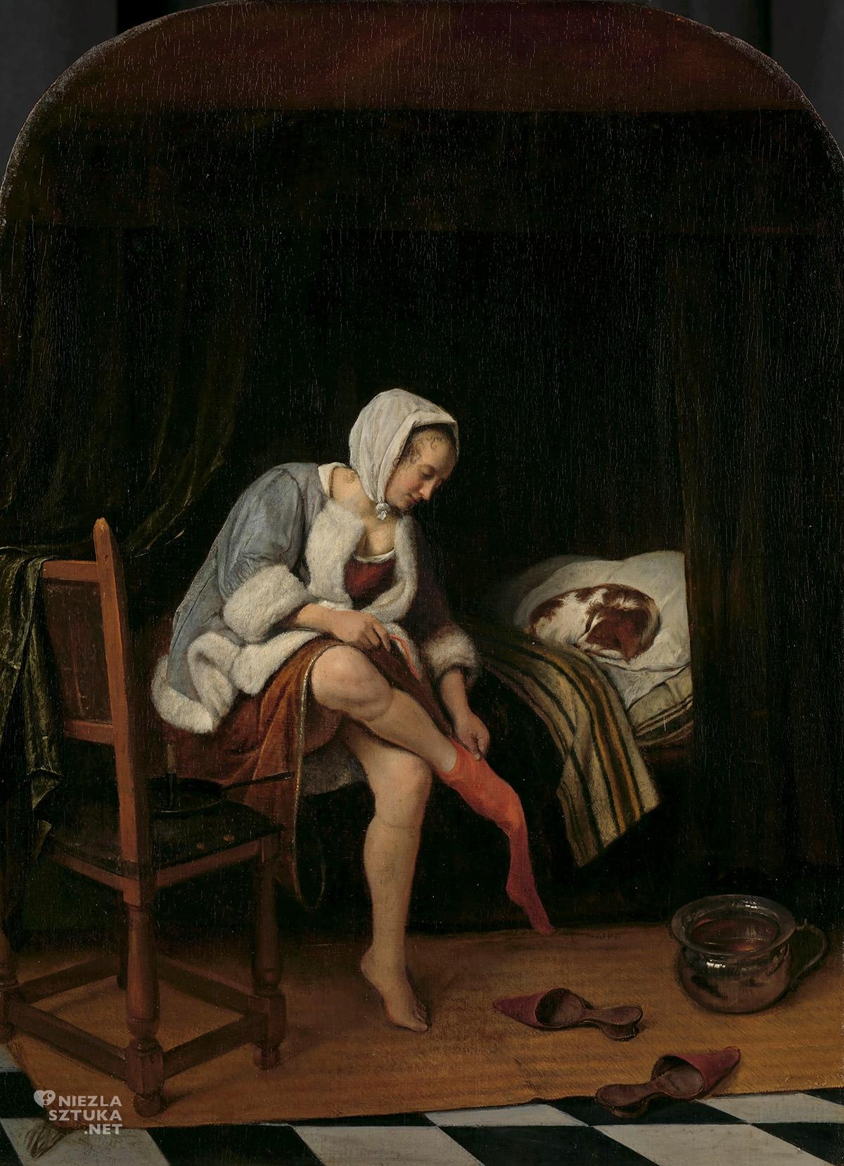 Jan Steen, Kobieta w toalecie, sztuka holenderska, Niezła Sztuka