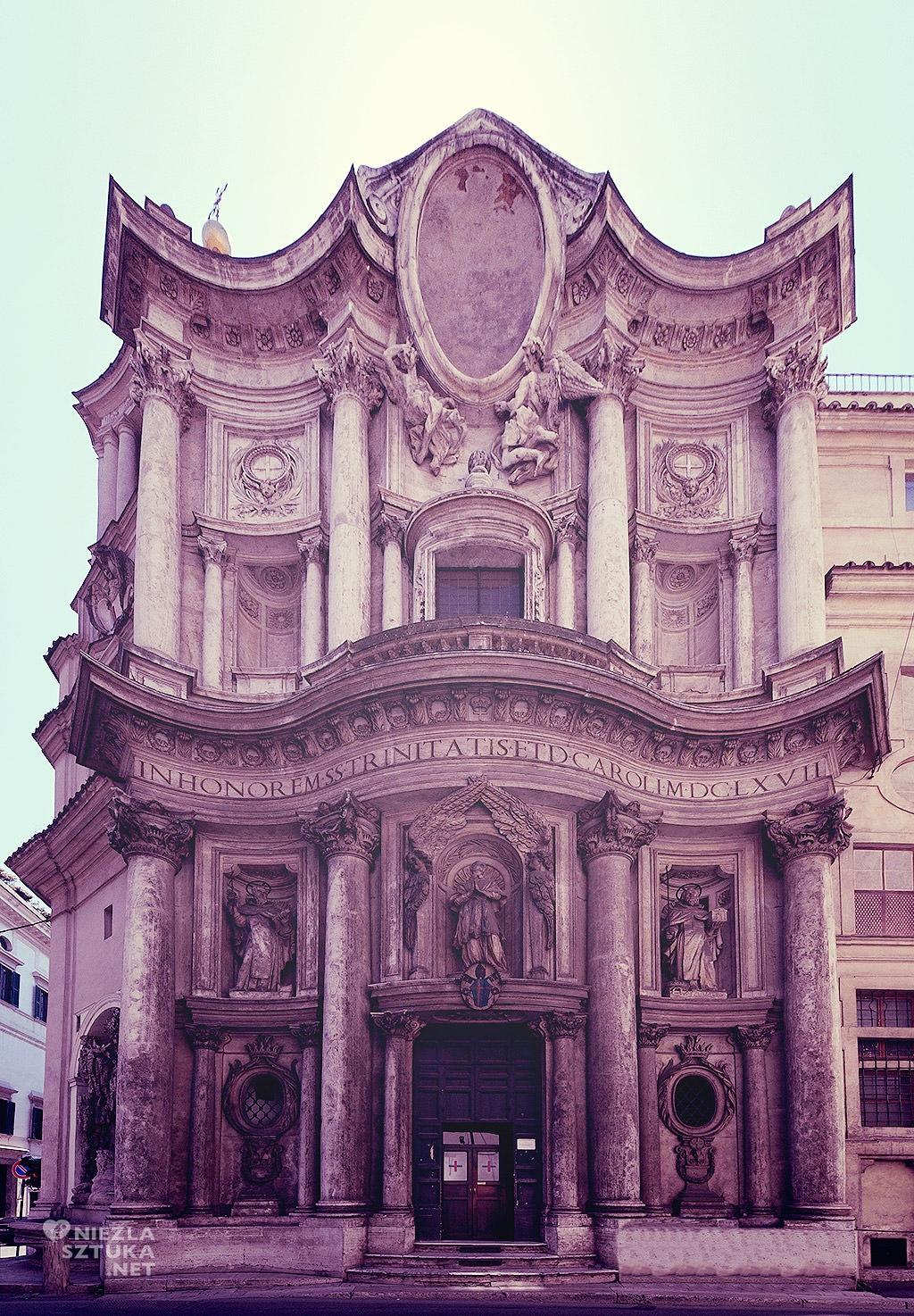 Kościół San Carlo alle Quattro Fontane, Rzym, Włochy sztuka, Włochy zabytki, architektura, Niezła sztuka