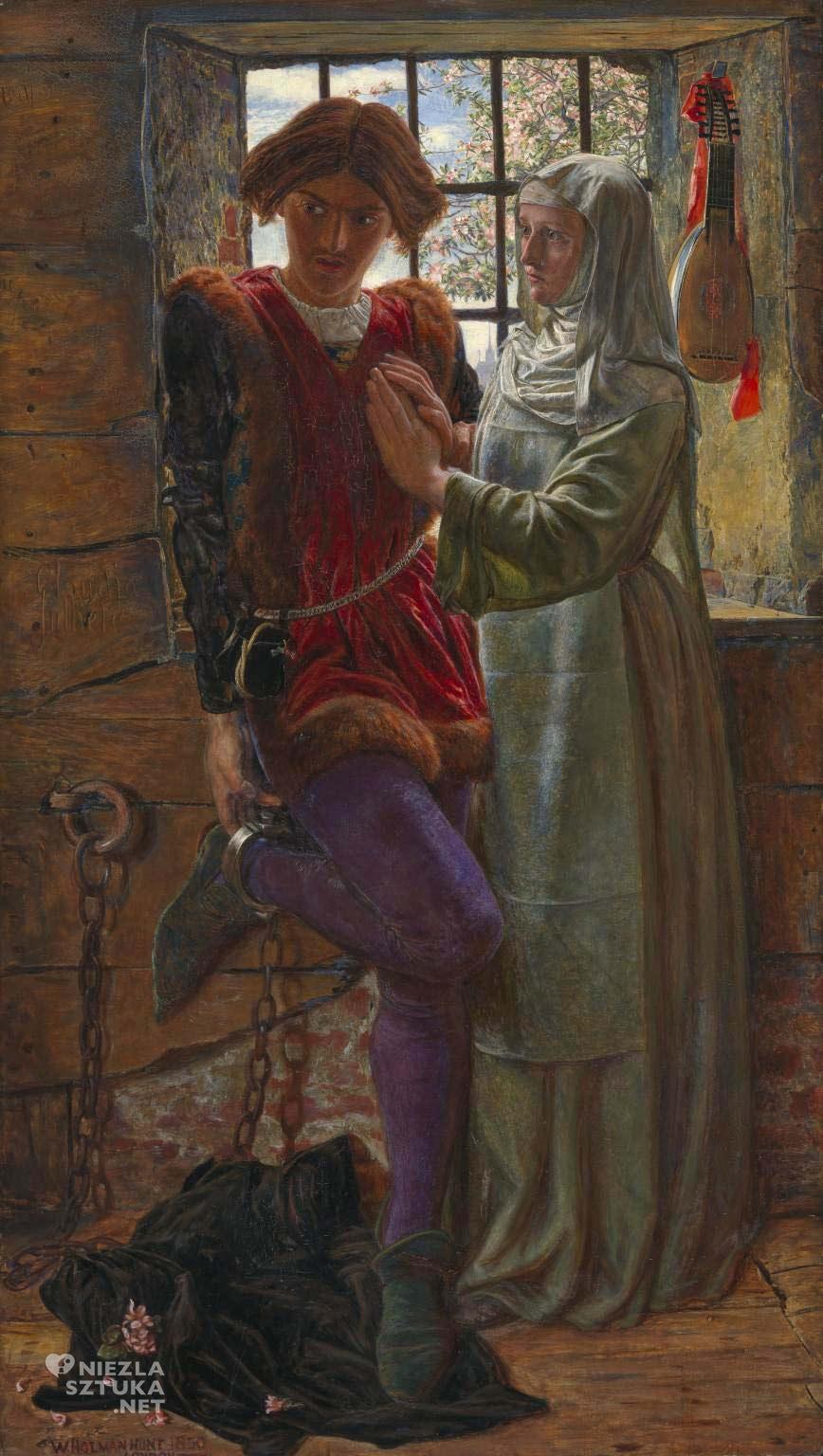 William Holman Hunt, Claudio i Isabella, prerafaelici, Bractwo Prerafaelitów, sztuka angielska, Szekspir, Niezła Sztuka