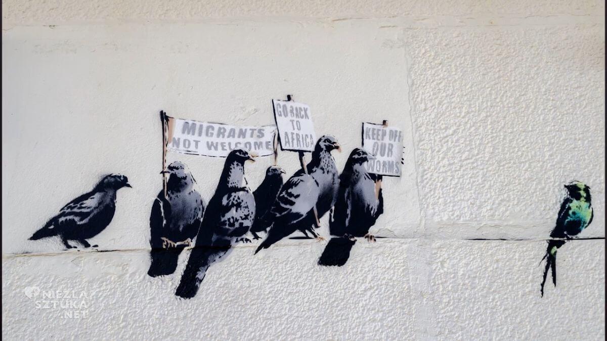Banksy street art, graffiti, mural, sztuka współczesna, Niezła sztuka