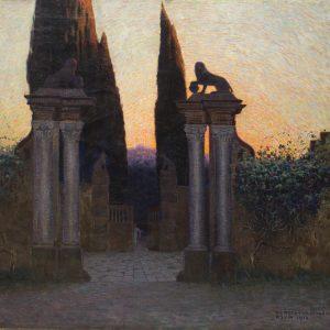 Bronisława Rychter-Janowska, Pejzaż włoski, sztuka polska, malarstwo polskie, Włochy, kobiety w sztuce, Niezła Sztuka