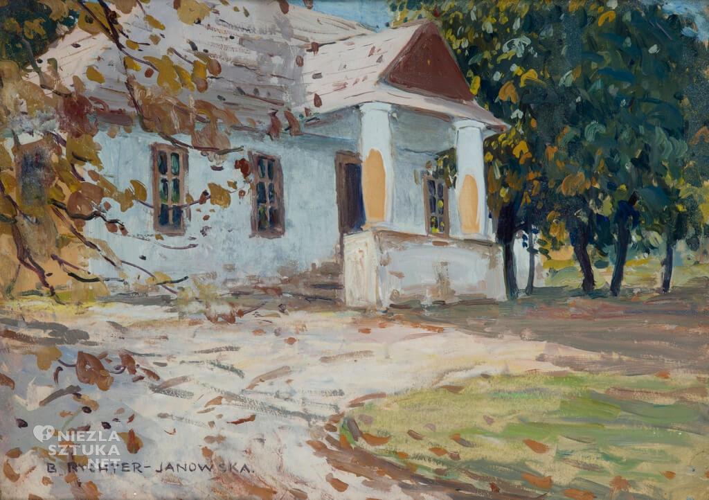 Bronisława Rychter-Janowska, Dworek, sztuka polska, malarstwo polskie, kobiety w sztuce, Niezła Sztuka