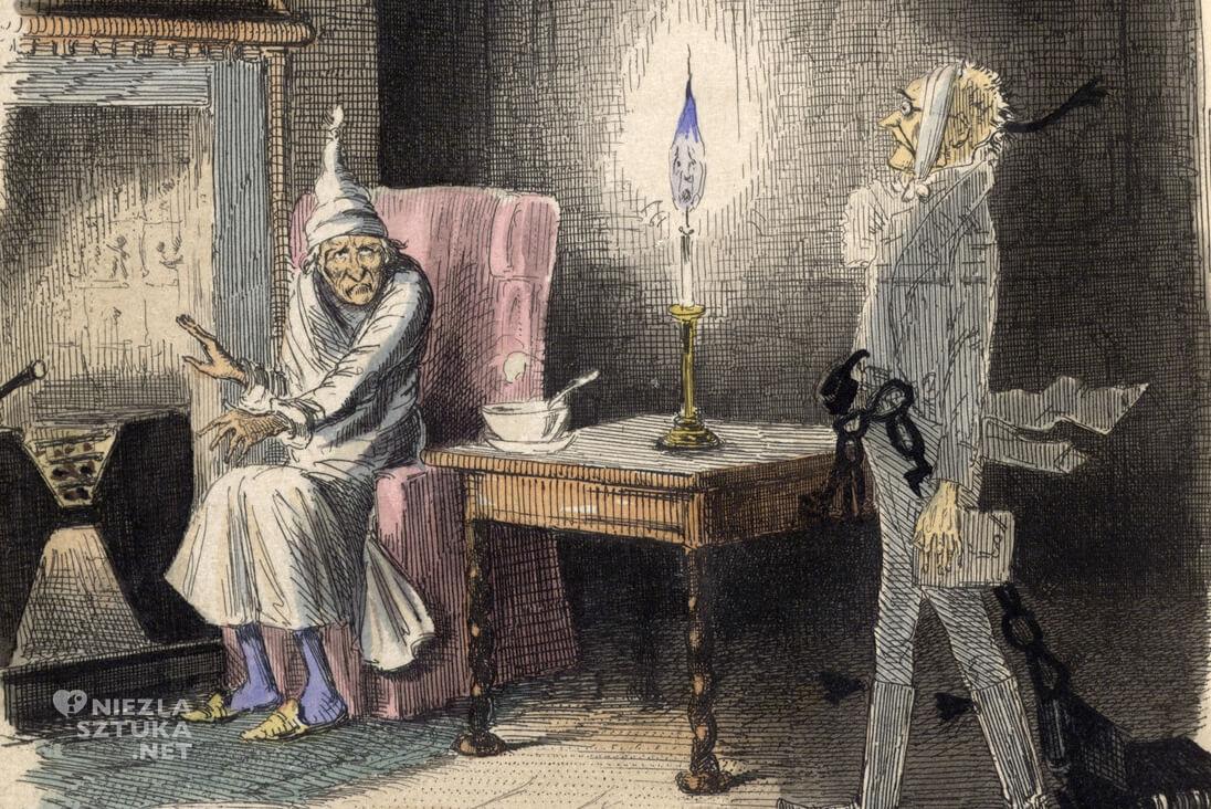 John Leech, Opowieść wigilijna, ilustracja, literatura angielska, Charles Dickens, Niezła Sztuka