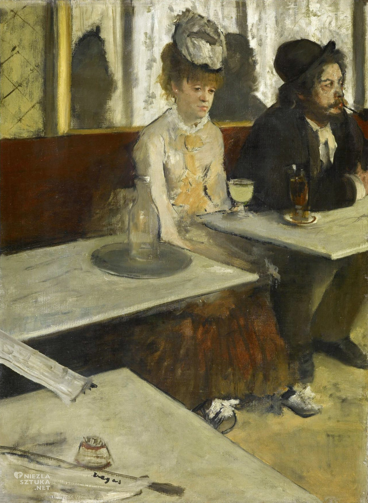Edgar Degas, Absynt, impresjonizm, alkohol w sztuce, bohema paryska, Niezła sztuka