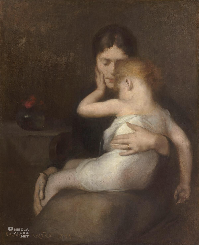 Eugène Carrière, Chore dziecko, malarstwo francuskie, Niezła Sztuka