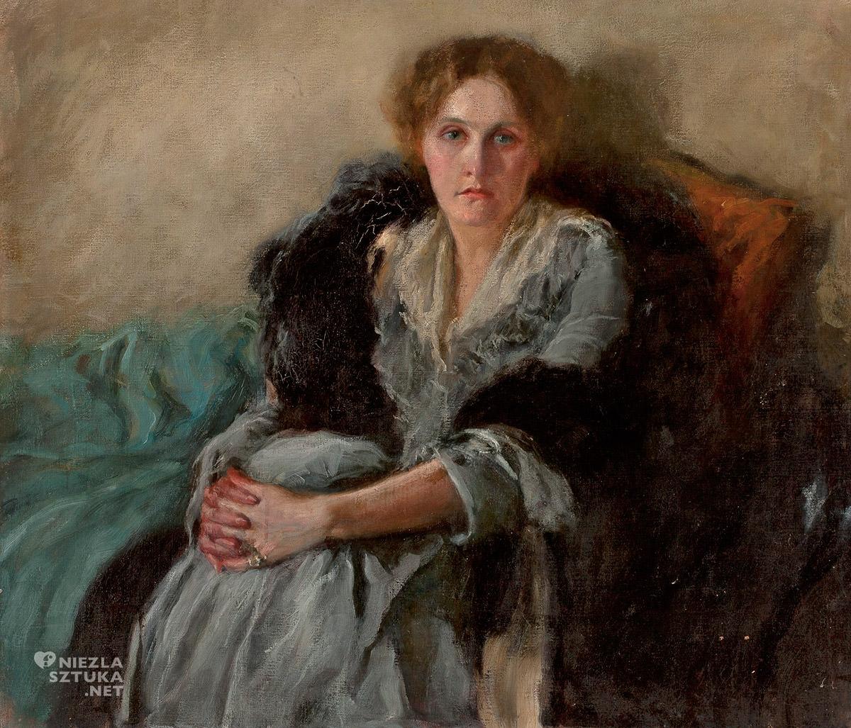 Józef Czajkowski, Portret żony artysty Lety Czajkowskiej, sztuka polska, Niezła Sztuka
