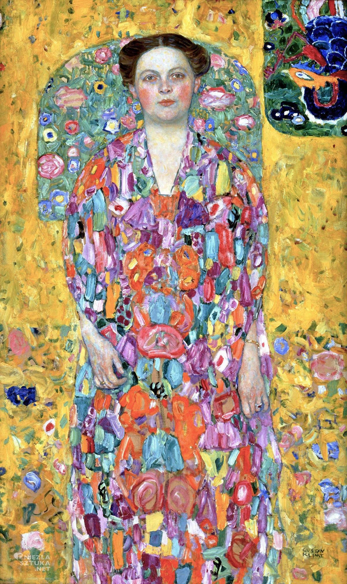 Gustav Klimt, Portret Eugenii Primavesi, sztuka austriacka, secesja, Niezła Sztuka