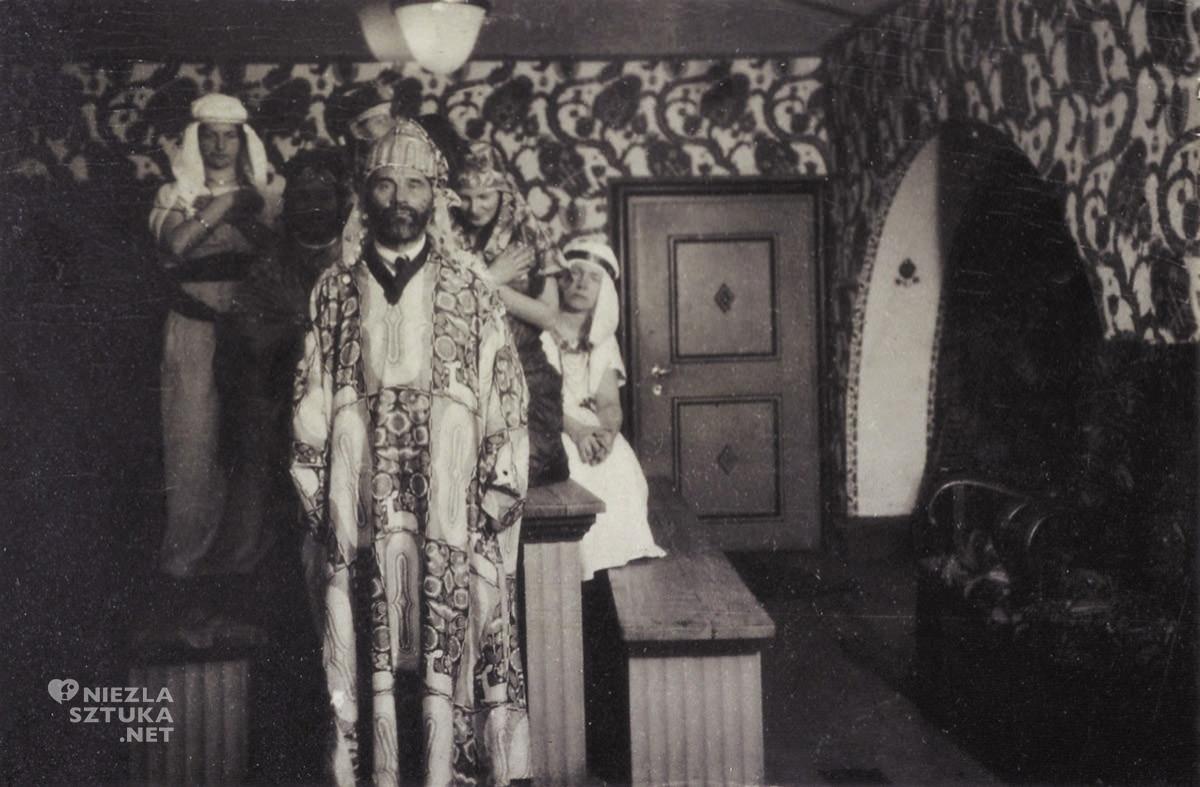 Gustav Klimt, przyjęcie, kostium, Primaversi, Austria, Niezła Sztuka