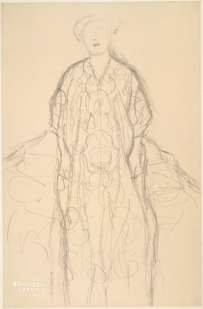 Gustav Klimt, szkic, kobieta, portret Eugenii Primavesi, Niezła Sztuka