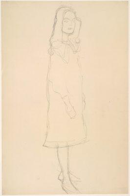 Gustav Klimt, szkic, dziewczynka, Mäda Primavesi, Niezła Sztuka