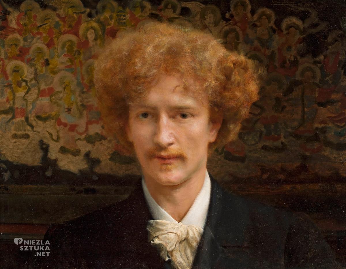Lawrence Alma-Tadema, Portret Ignacego Jana Paderewskiego, muzyk, sztuka polska, malarstwo angielskie, Niezła Sztuka