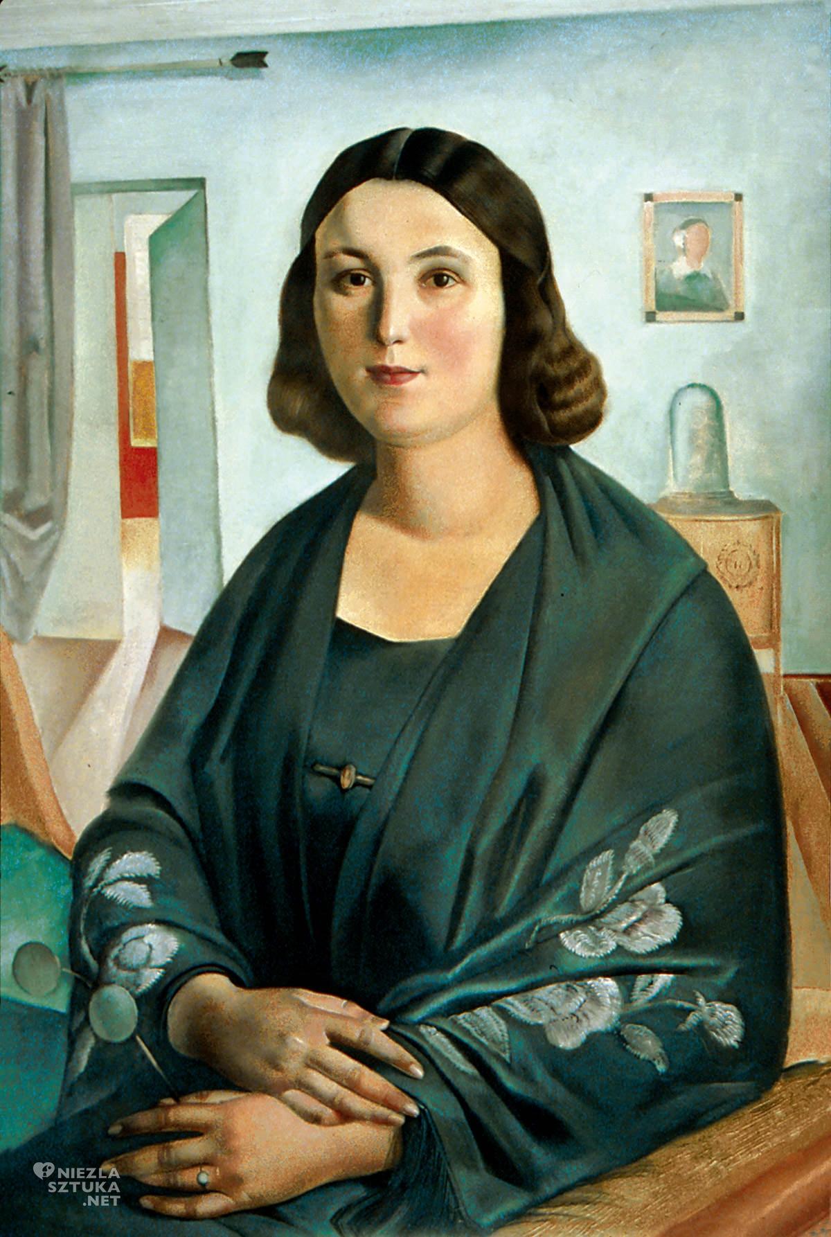 Ludomir Sleńdziński, Portret Jadwigi Szalewiczowej, sztuka polska, malarstwo polskie, Niezła Sztuka
