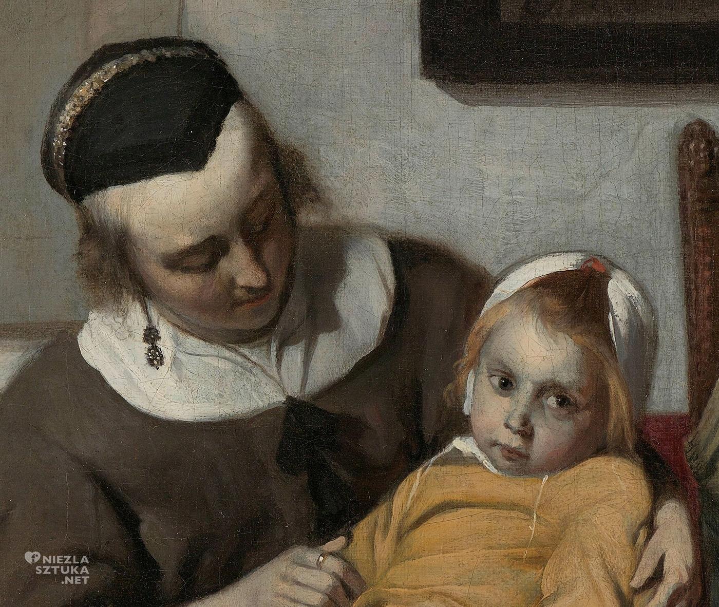 Gabriël Metsu, Chore dziecko, malarstwo niderlandzkie, Niezła Sztuka,