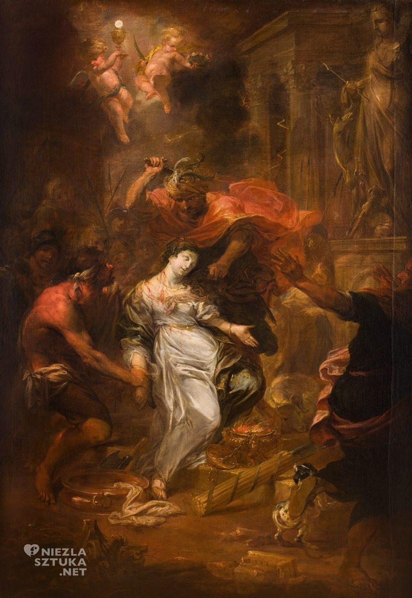 Michael Willmann, Męczeństwo św. Barbary, barok, Śląsk, malarstwo religijne, Niezła Sztuka
