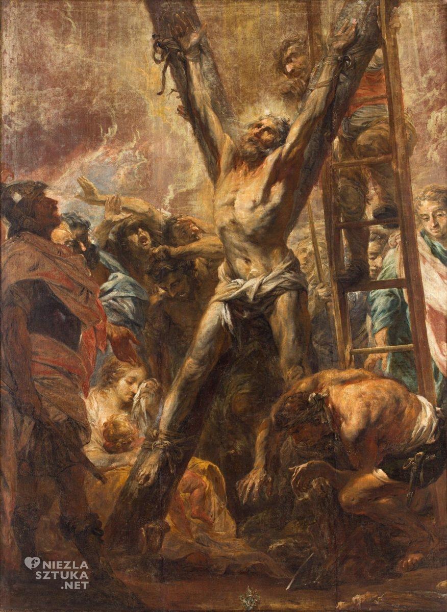 Michael Willmann, Ukrzyżowanie św. Andrzeja, barok, Śląsk, malarstwo religijne, Niezła Sztuka