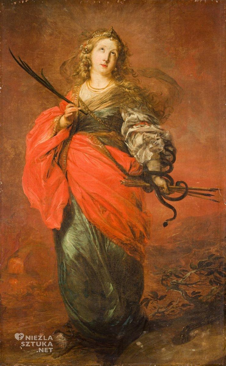 Michael Willmann, Święta Krystyna, barok, Śląsk, malarstwo religijne, Niezła Sztuka