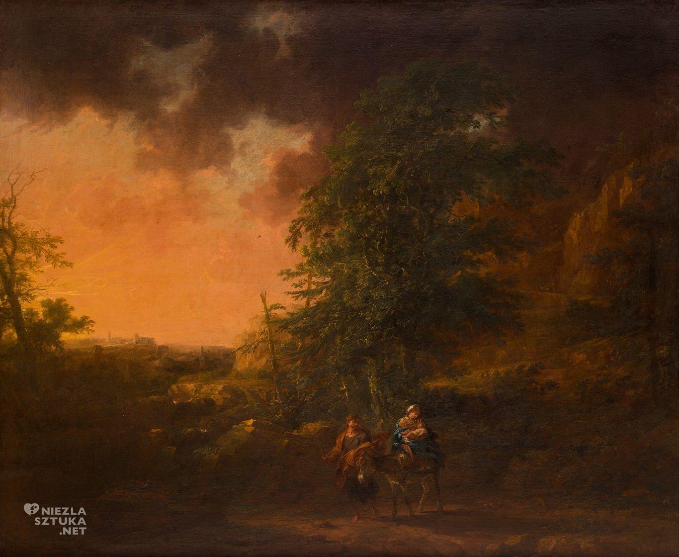 Michael Willmann, Ucieczka do Egiptu, barok, Śląsk, malarstwo religijne, Niezła Sztuka