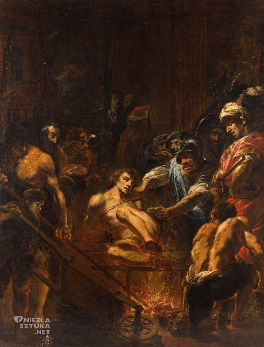 Michael Willmann, Męczeństwo św. Wawrzyńca, malarstwo niemieckie, Ukrzyżowanie, sztuka niemiecka, Niezła sztuka