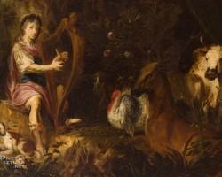 Michael Willmann, Orfeusz grający zwierzętom, barok, Śląsk, Niezła Sztuka