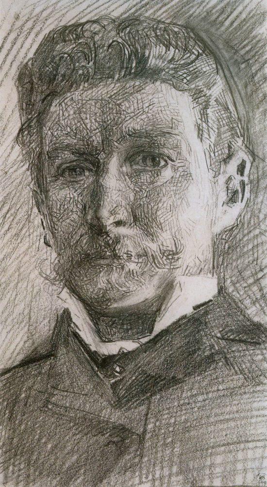 Michaił Wrubel, Autoportret, szkic, sztuka rosyjska, Niezła Sztuka