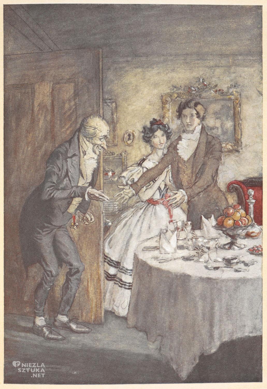 Arthur Rackham, Opowieść wigilijna, ilustracja, literatura angielska, Charles Dickens, Niezła Sztuka