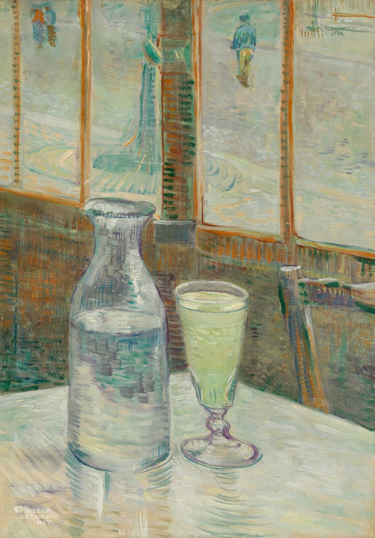 Vincent van Gogh, Kawiarniany stolik z absyntem,Absynt, Zielona Wróżka, Alkohol, Niezła Sztuka