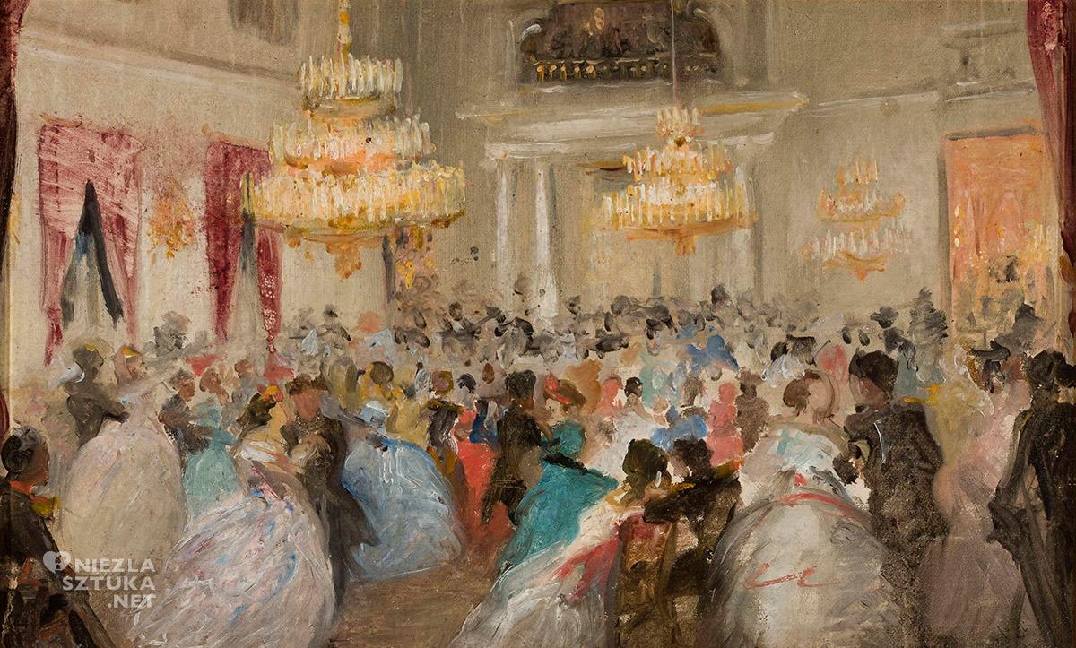 Wincenty Sleńdziński, Bal, 1863 roku, sztuka polska, malarstwo polskie, Niezła Sztuka