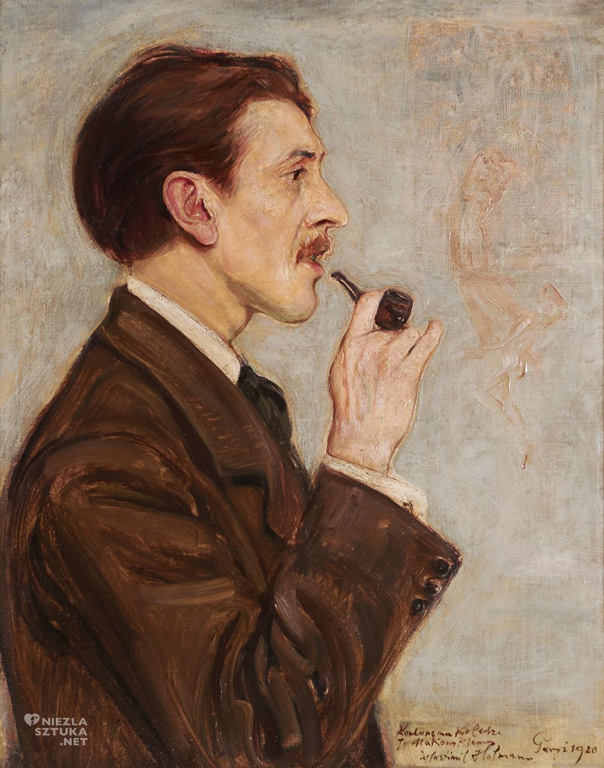 Wlastimil Hofman, Portret Tadeusza Makowskiego, sztuka polska, malarstwo polskie, portret malarza, Niezła Sztuka