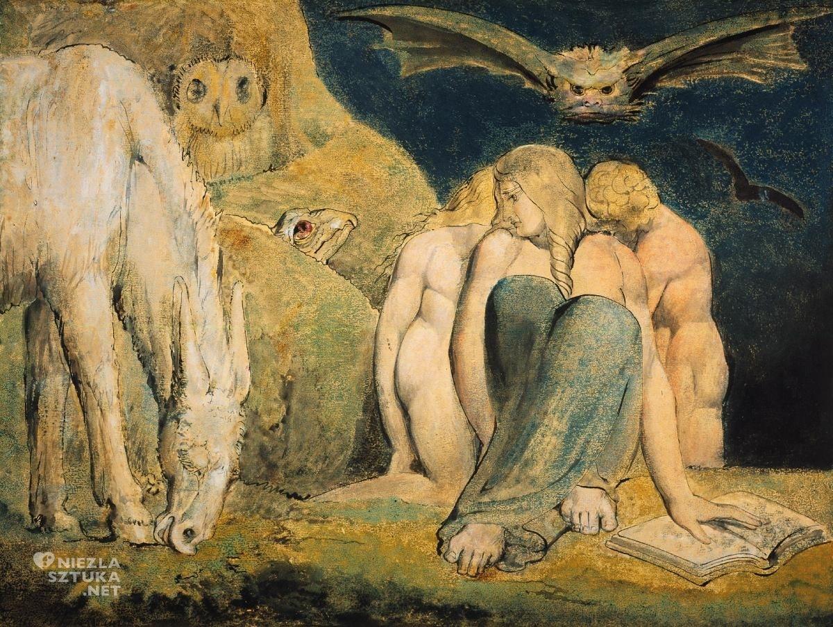 William Blake, Night of Enitharmon's Joy, The Triple Hecate, sztuka angielska, mitologia Blake'a, Niezła Sztuka