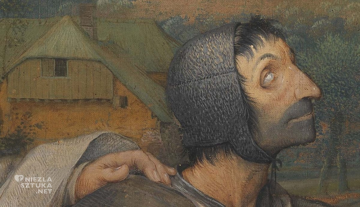 Pieter Bruegel, Ślepcy, malarstwo niderlandzkie, detal, Niezła Sztuka