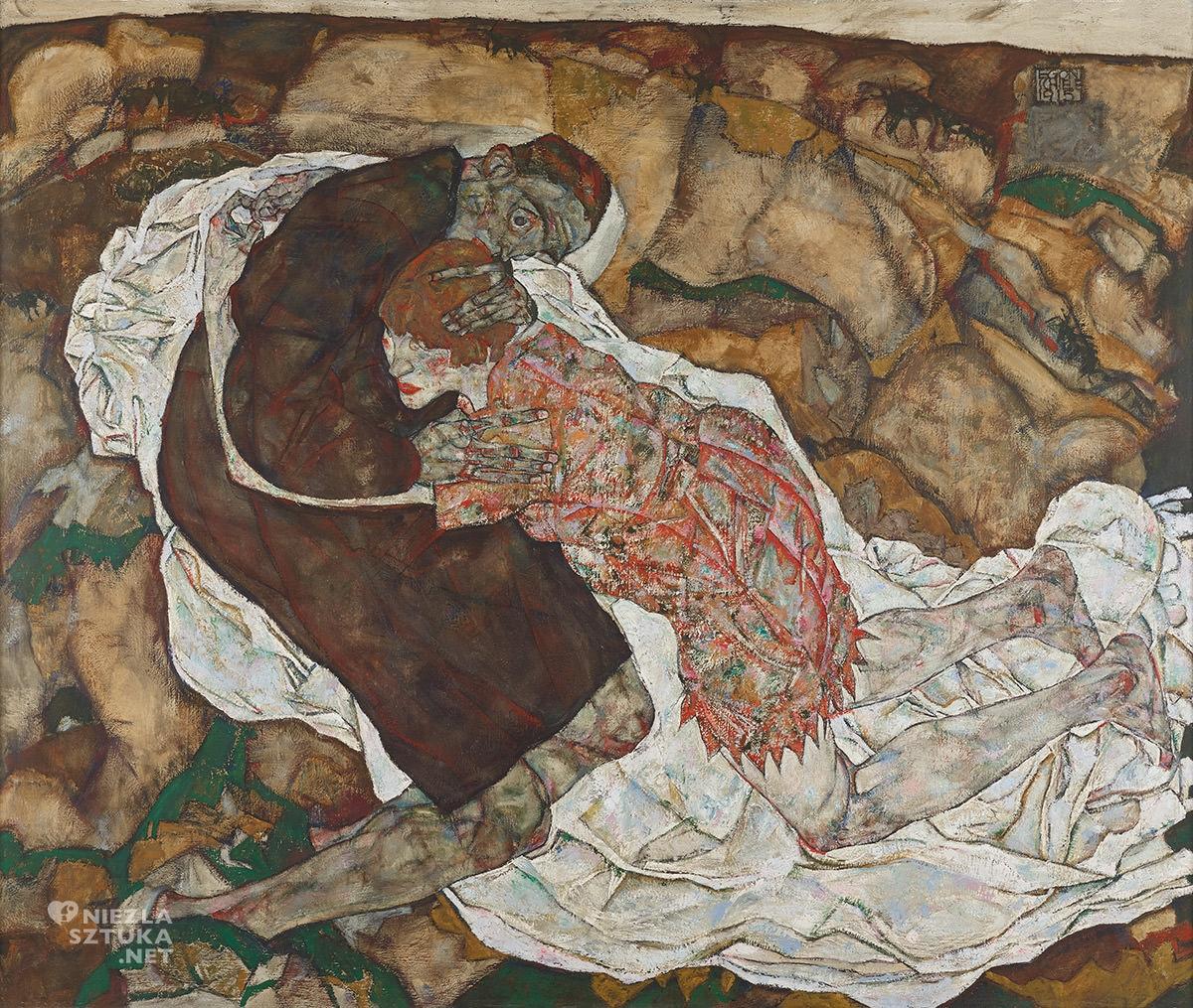 Egon Schiele, Śmierć i dziewczyna, Wally Neuzil, sztuka austriacka, Niezła Sztuka
