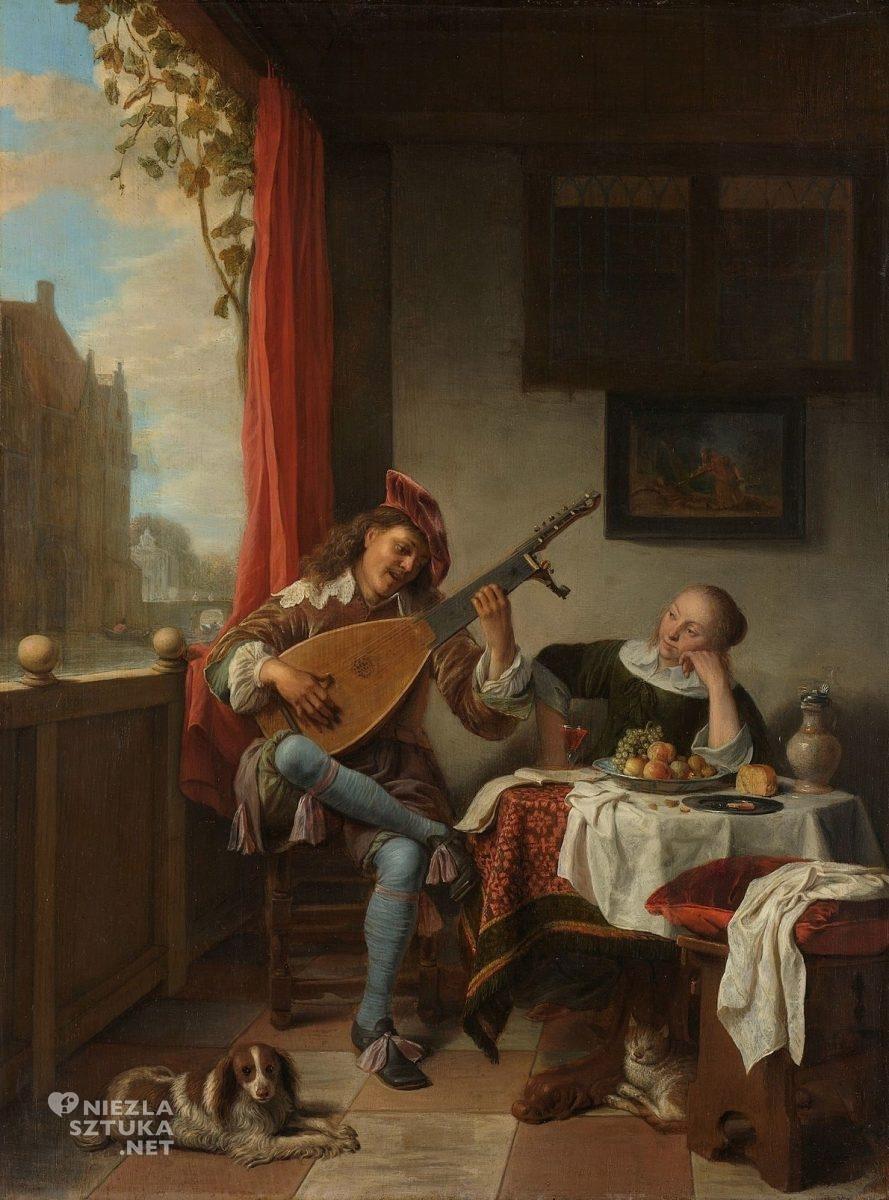 Hendrick Martensz Sorgh, Grający na lutni, sztuka niderlandzka, Niezła Sztuka