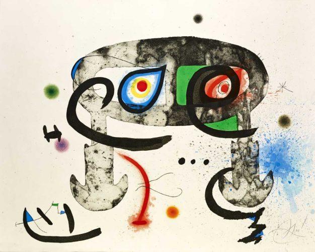 Joan Miró, Le Hibou blasphémateur, sztuka hiszpańska, sztuka współczesna, Niezła Sztuka