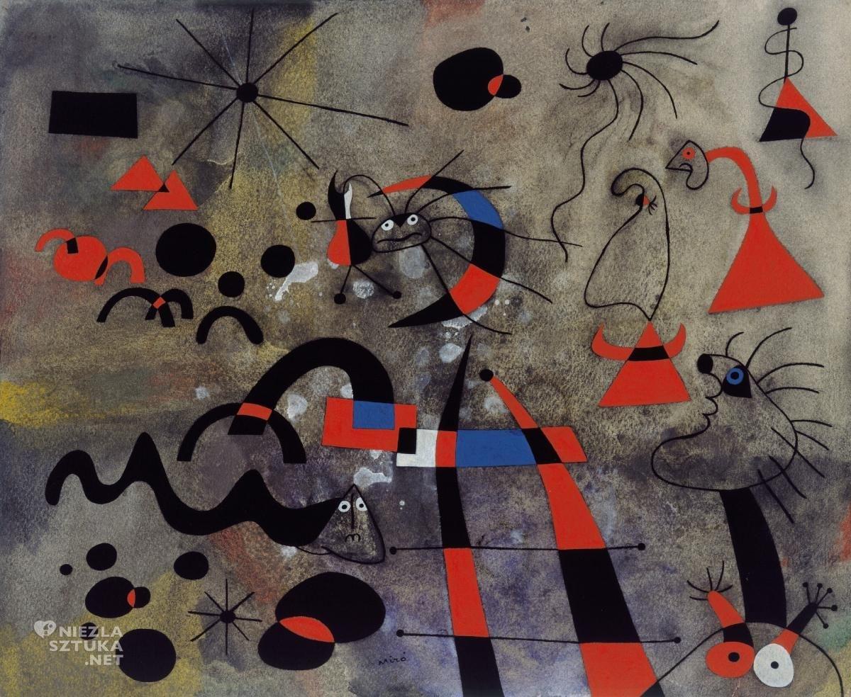 Joan Miró, Drabina ratunkowa, Konstelacje, sztuka współczesna, sztuka hiszpańska, sztuka katalońska, Niezła Sztuka