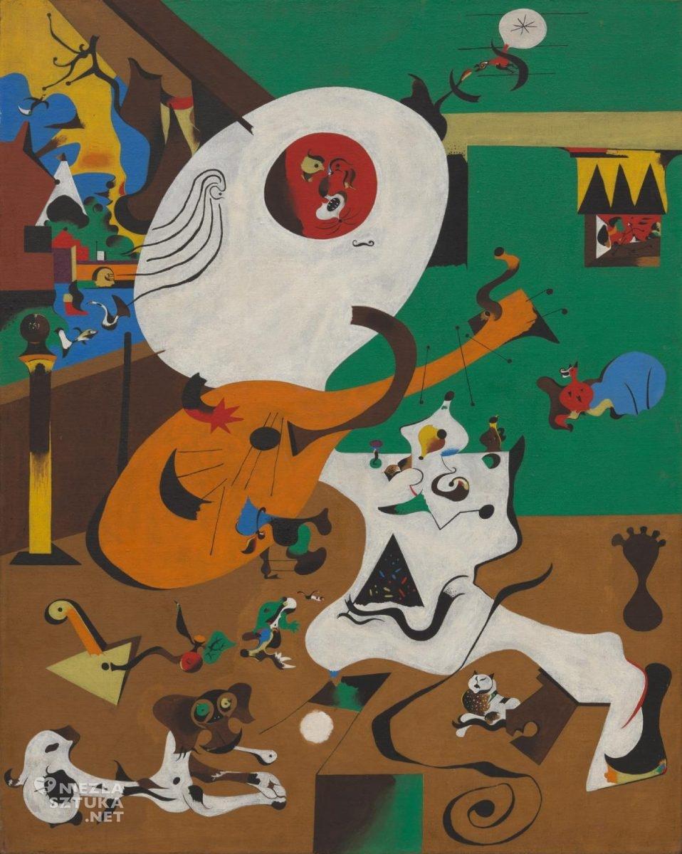 Joan Miró, Holenderskie wnętrze, sztuka współczesna, sztuka hiszpańska, sztuka katalońska, Niezła Sztuka