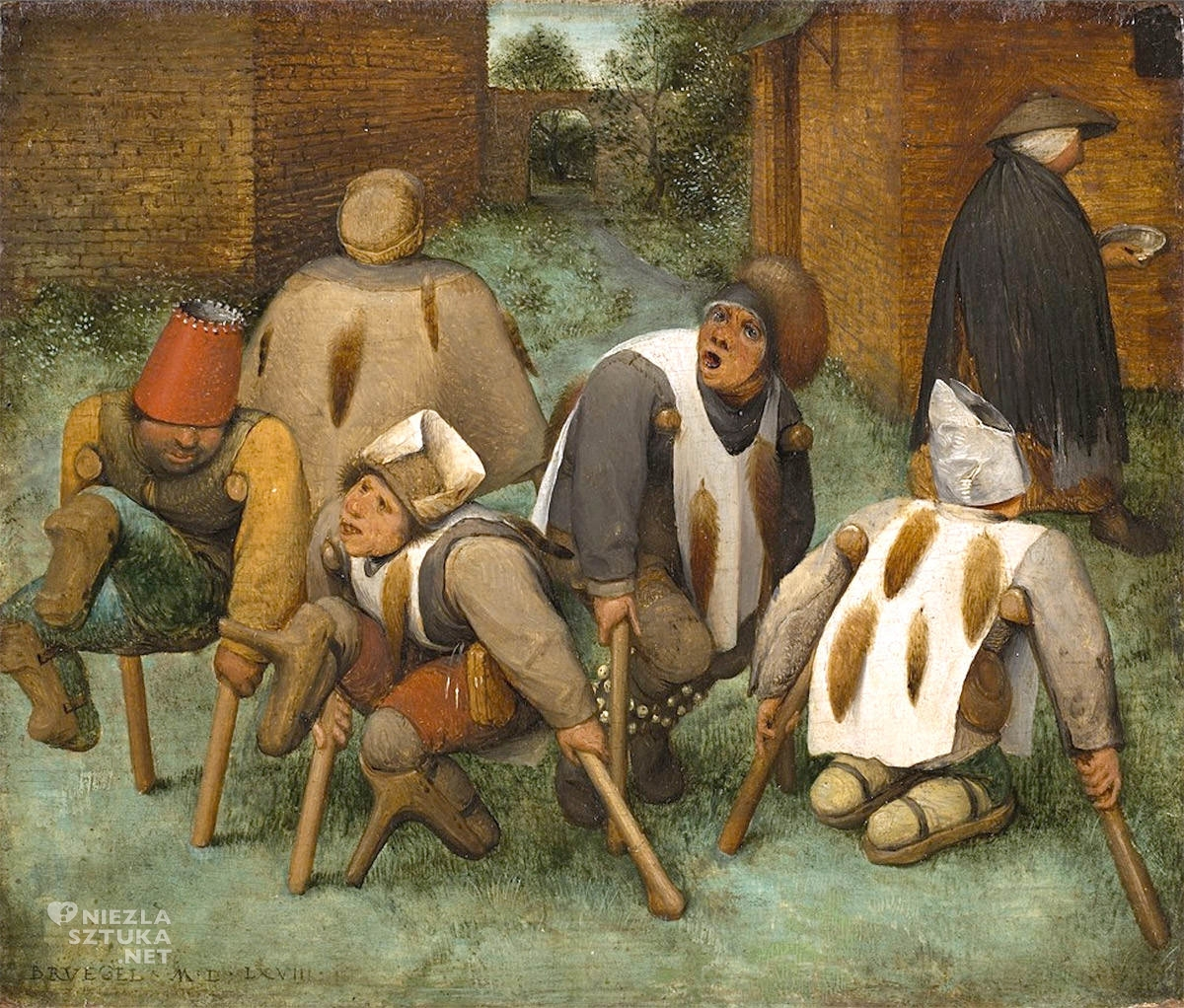Pieter Bruegel, Kalecy, sztuka niderlandzka, malarstwo niderlandzkie, Niezła Sztuka