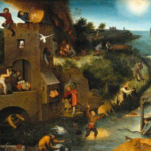 Pieter Bruegel Starszy, Przysłowia niderlandzkie, sztuka niderlandzka, malarstwo niderlandzkie, Niezła Sztuka