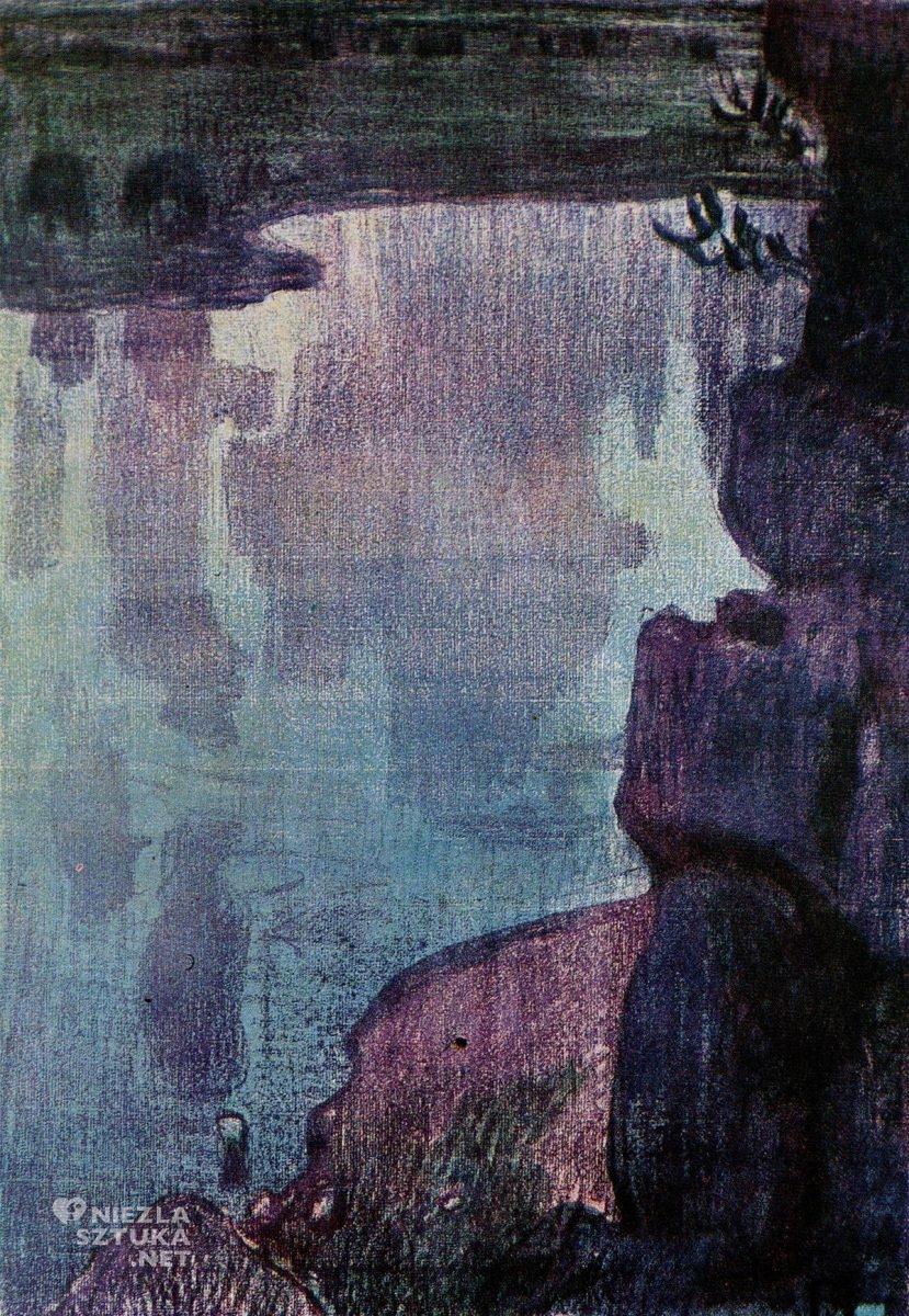 Jan Stanisławski, Tyniec, litografia, sztuka polska, Niezła Sztuka